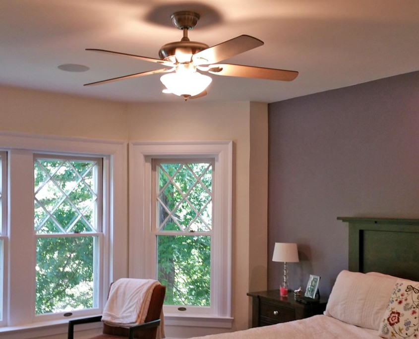 bedroom lighting, ceiling fan